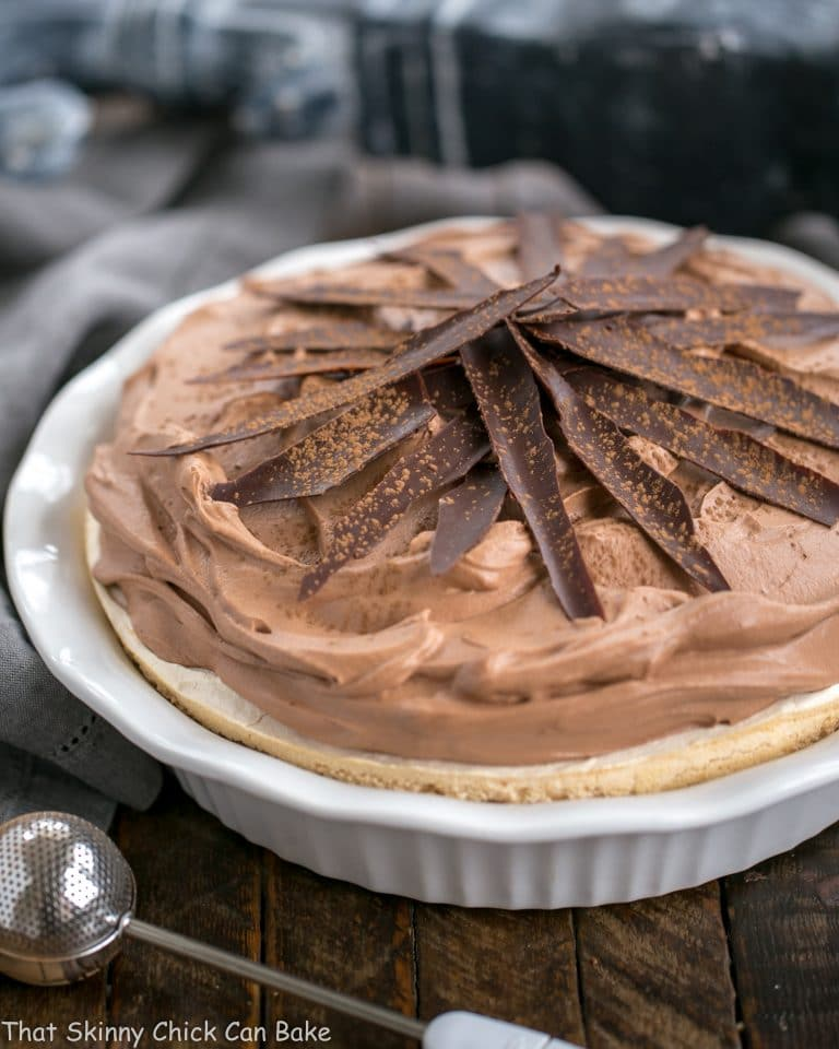 Chocolate Velvet Pie with Meringue Crust