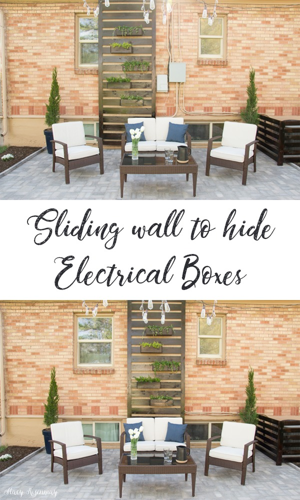How to Hide Outdoor House Electrical Boxes - Not Just a Housewife