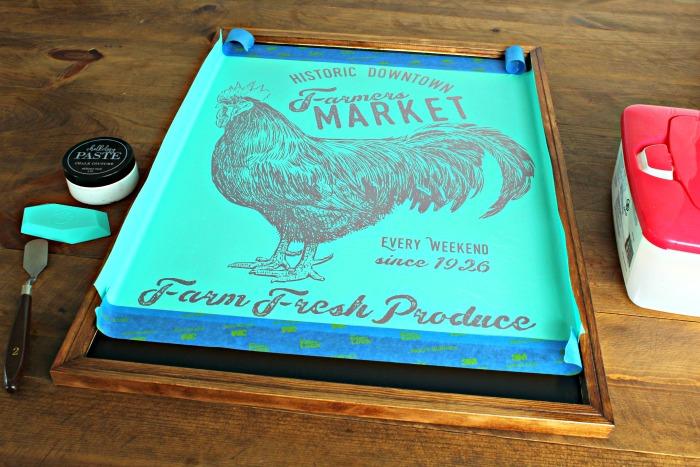 Incredibly Beautiful DIY Farmers Market Chalkboard Knick
