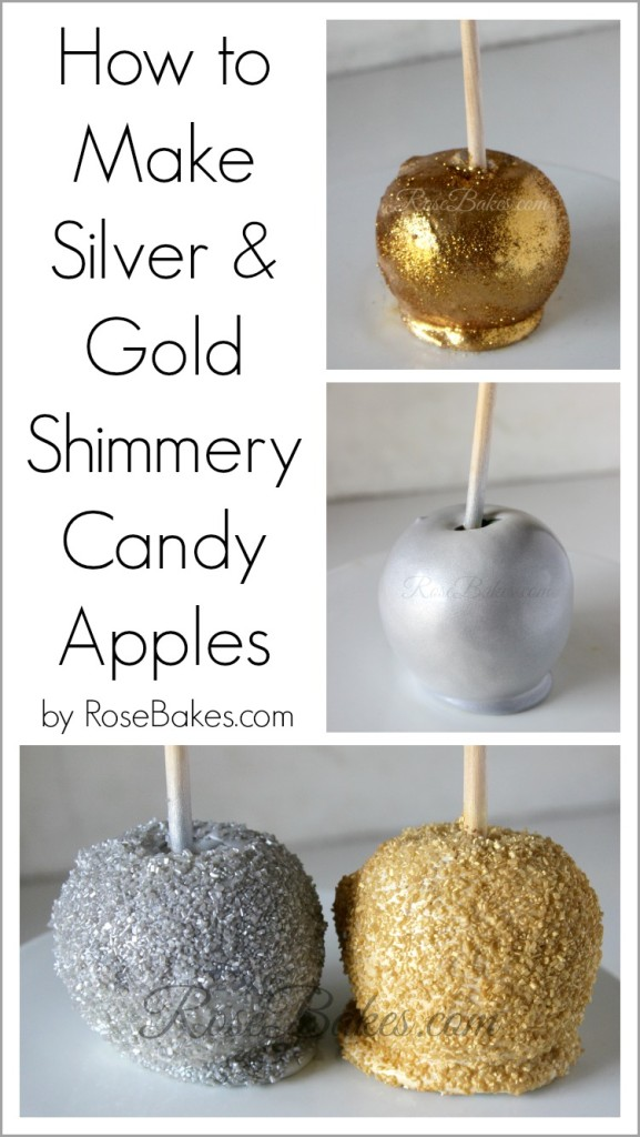How to Make Silver & Gold Candy Apples