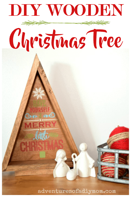 DIY Wooden Christmas Tree by Adventures of a DIY Mom