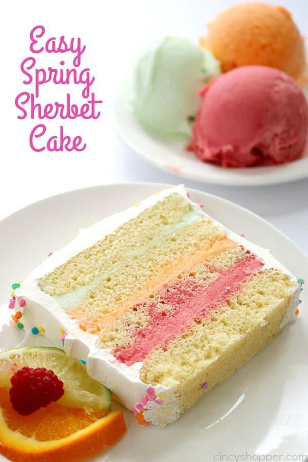 Easy Spring Sherbet Cake
