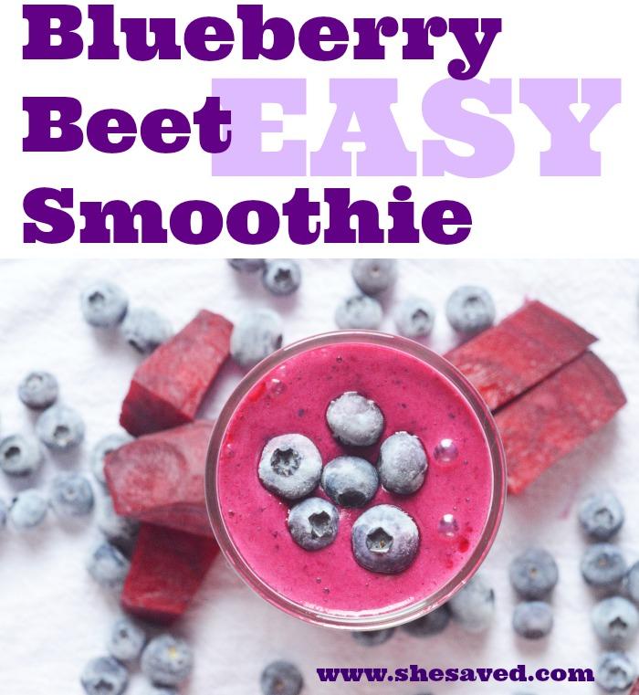 BLUEBERRY BEET SMOOTHIE RECIPE