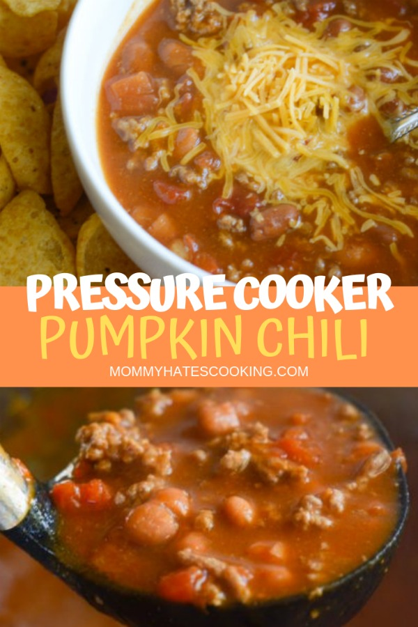 Pressure Cooker Pumpkin Chili