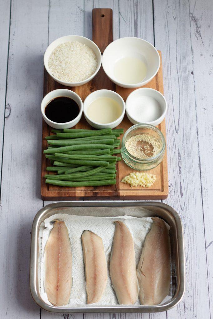 mackerel rice bowl ingredients