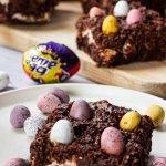 Cream and Mini Egg brownies
