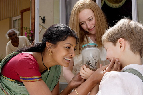 Sajani (Nandita Das) w/ Laura Moores (Jennifer Ehle) and son