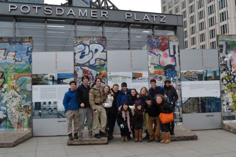 Group in front of the Berlin Wall