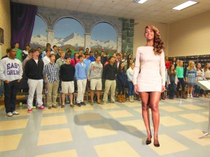 Beyonce takes her place at the front of chorus class