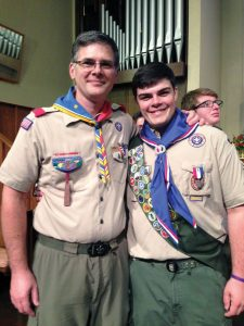 Junior Patrick Moore built an outdoor classroom for Pace Academy for his Eagle Scout project. Photo: Patrick Moore