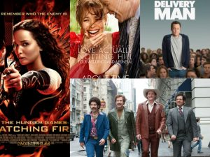 This season promises a variety of new releases that are sure to please everyone.  Photo:  http://www.abouttimemovie.com, http://www.imdb.com/title/tt2387559/?ref_=nv_sr_1 , http://www.anchormanmovie.com, http://www.thehungergames.co.uk