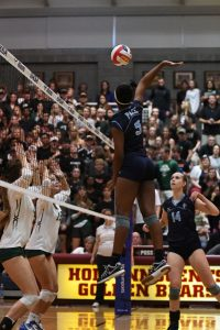 The varsity volleyball team finished as state runner-ups, the best finish in Pace history. Photo: Fred Assaf