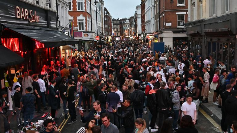 Revellers told 'lives depend' on sticking to social distancing rules