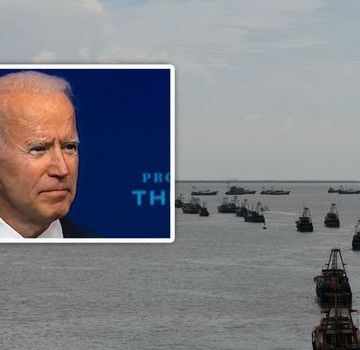 WW3 fears SURGE as Joe Biden ally warns US must be able to 'sink all' Chinese ships