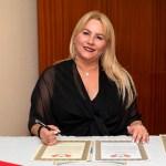 Newly knighted Lady Munoz the wife of Ambassador, Sir Roberto Munoz of South Florida
