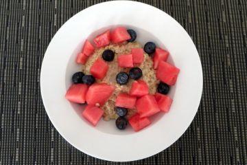 Porridge with Berries and Watermelon