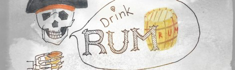 Pirate: Drink Rum Watercolor FDR