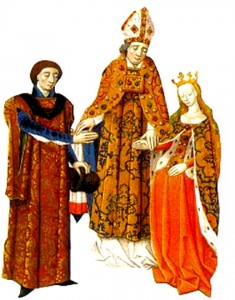 Count Fulk marrying Princess Melisende