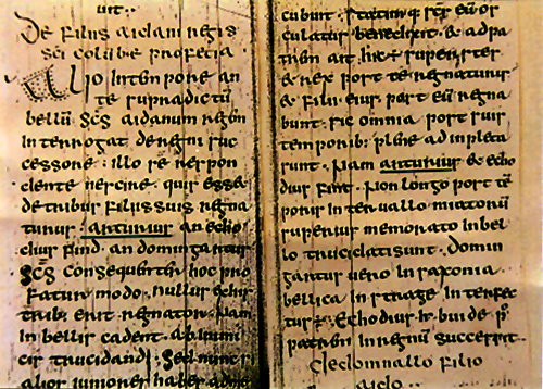 'Vita Columba' by Adomnan (7th century) at Town Library Archives in Schauffhausen, Switzerland