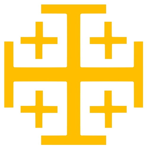 "Cross of Jerusalem, heraldic symbol, as ""five crosses"""