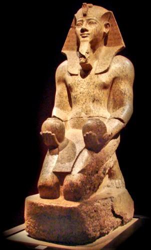 Amenhotep III with sacramental offerings, Museo Egizio, Turin Italy