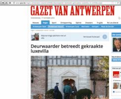 Gazet van Antwerpen - Deurwaarder betreedt gekraakte villa - De Kluis 16-van Assendelft van Wijck-1