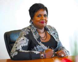 """de Curaçaose Marvelyne Wiels  """"genomineerd als Zwarte Vrouwelijk Manager 2008"""""""