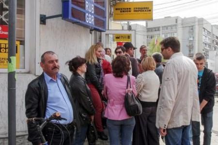 Verontruste klaten voor de 'Ukrainian Black Sea Bank' Foto |  EPA