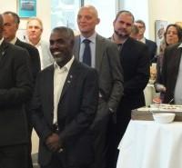 Statiaanse en Sabaanse delegatie bij receptie Caribisch Nederland-week - Foto |  Jamila Baaziz