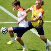 Oranje start tegen Mexico waarschijnlijk met Verhaegh Foto |   ©2014 ANP