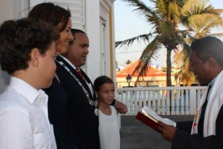 Edison Rijna is afgelopen vrijdag beëdigd als gezaghebber van Bonaire.