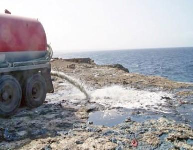 Afvalwaterlozing bij Shut