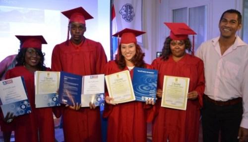 Afgestudeerde studenten MBO 1