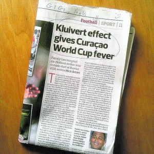 Curaçaos voetbal op Engels netvlies
