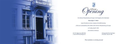 Gevolmachtigde minister Marvelyne Wiels stuurde afgelopen weekend de uitnodiging uit voor de opening van het nieuwe pand van het Curaçaohuis in Den Haag op 7 juli | FOTO CURAÇAOHUIS