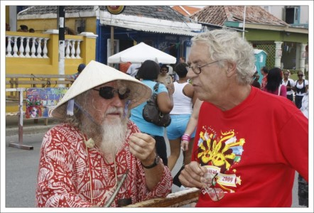 In memoriam Hans Vaders op 1 augustus in Bloemhof | Foto Persbureau Curacao