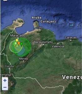 Aardbevingen in Venezuela en regio