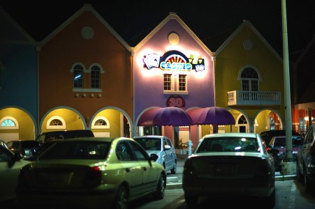 Pinnacle Sports first established its headquarters on the second floor of the Holiday Beach Hotel and Casino in the Caribbean island nation of Curaçao. Credit Hilary Swift for The New York Times