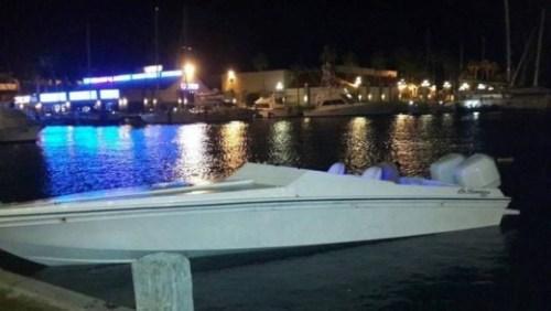 De vermiste go-fast speedboot | Persbureau Curacao/NOS