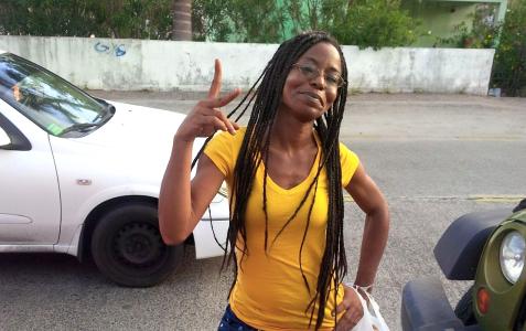 Blogster Judith Roumou is door vrienden die voor een aanslag op haar leven vreesden in veiligheid gebracht. | FOTO GROMYKO WILSON