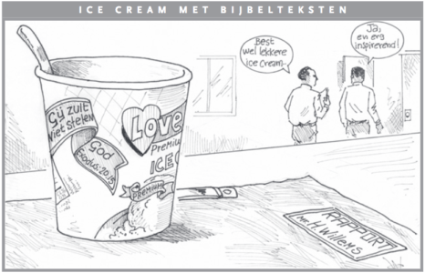 Icecream met bijbelteksten Cartoon Antilliaans Dagblad