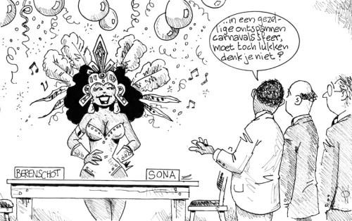 Vredescommissie conflict Sona-Berenschot   AD cartoon