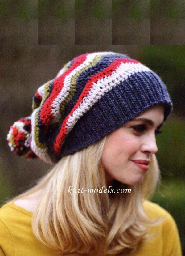 Вязаные шапки и шарфы крючком