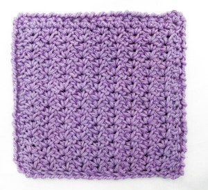 Mini shell washcloth