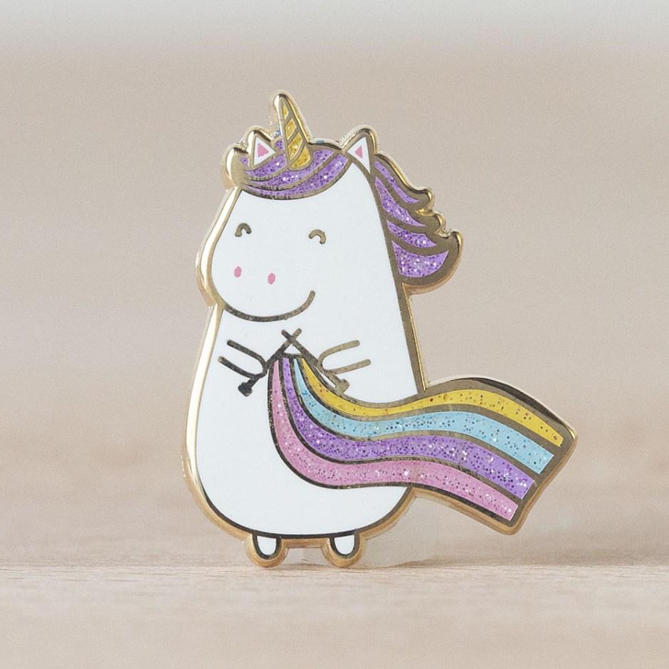 Unicorn Knitting Pin