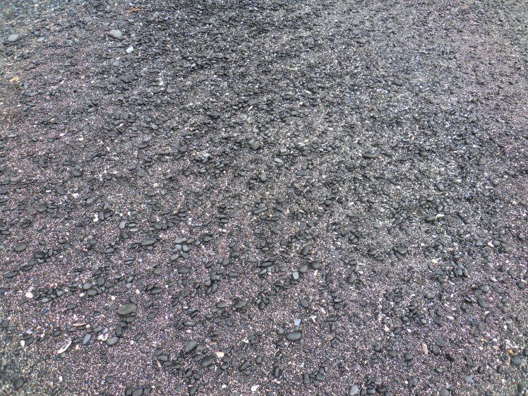Black stones at beach