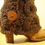 Bulky Cabled Legwarmers with Buttons