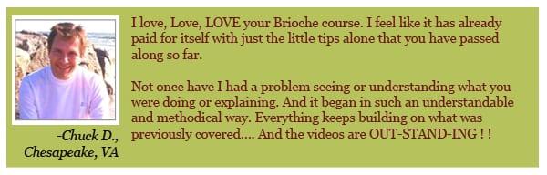 Brioche e-book testimonial from Chuck D