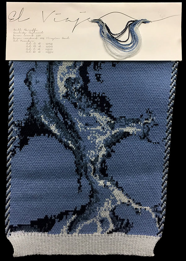 "Designer:Paola Lizano-knitGrandeur: FIT & Filati Biagioli and Baruffa Collaboration 2017: Double Jacquard Project Featuring Biagioli ""Cash 30"""