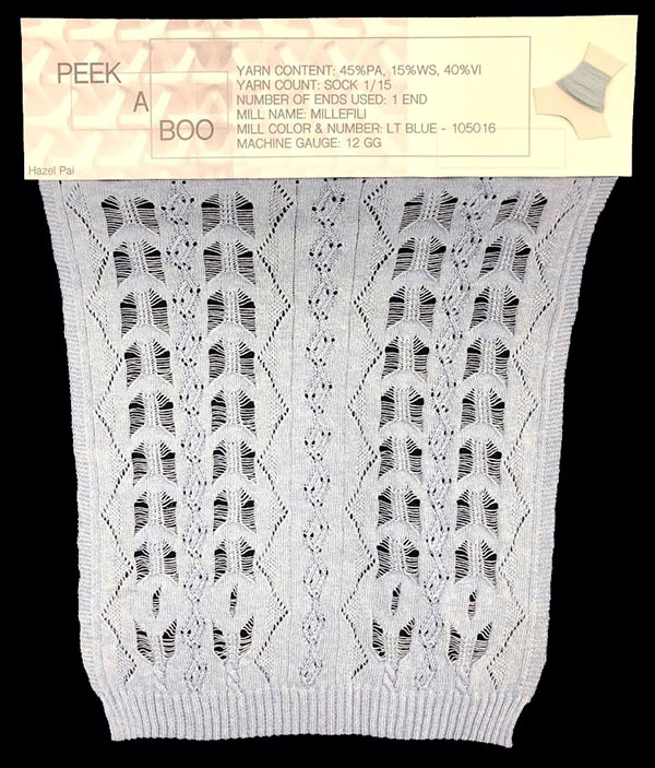 knitGrandeur: Designer: Hazel Pai- FIT Knitwear Specialization, Linear Stitch Design Project 2018